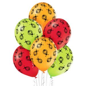 Balony z biedronkami - balony z helem dla dzieci - Sklep w Warszawie