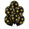 Czarne balony z helem w złote gwiazdki - zobacz nasze propozycje na stronie