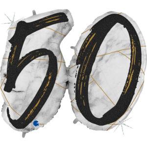 Balon z helem liczba 50