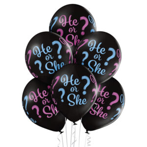 C018. Zestaw balonów na Baby Shower / poznanie płci- gender reveal małe – 6 sztuk