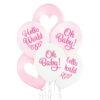 Balony różowe i białe na Baby Shower