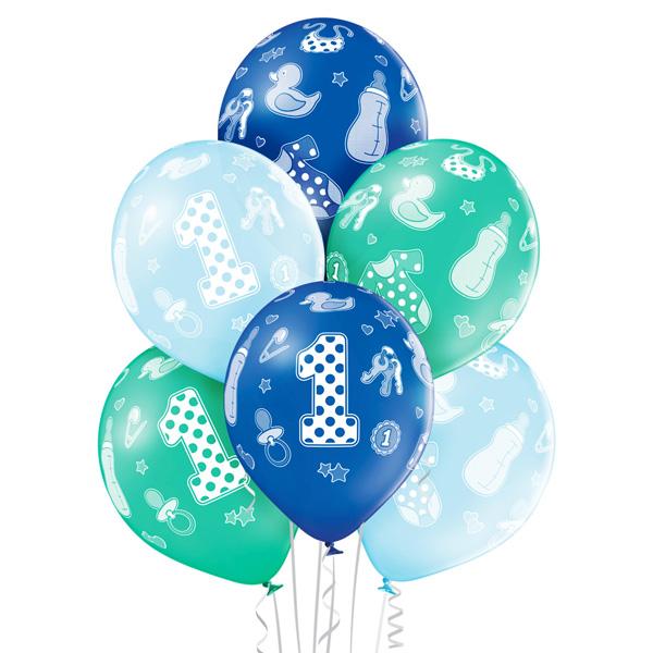 Balony dekoracja na roczek chłopca