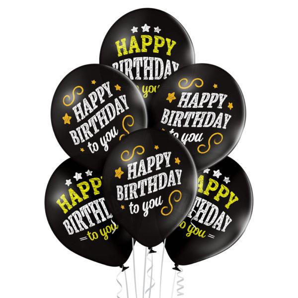 Balony napompowane helem na urodziny