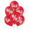 Balony z helem do sklepu na wyprzedaże