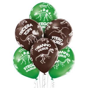 D009. Zestaw balonów ze zwierzątkami / safari – 6 sztuk