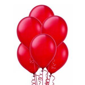 """A013. Metalizowane balony lateksowe 12"""" calowe – kolor czerwony"""