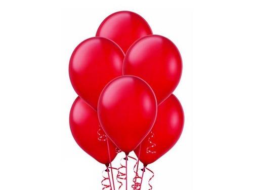 Balony czerwone lateksowe klasyczne z helem