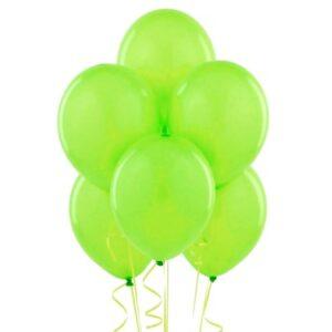 "A015. Metalizowane balony lateksowe 12"" calowe – kolor zielony"