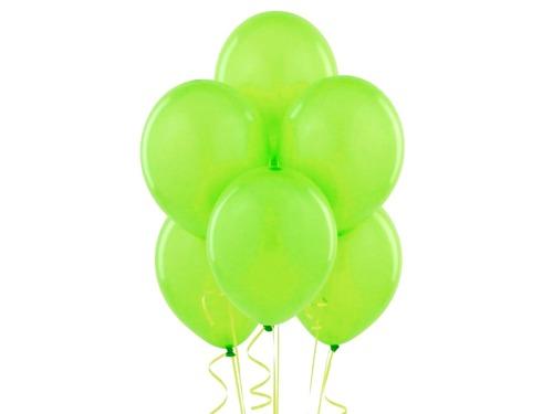 Metalizowane balony z helem w kolorze zieleni