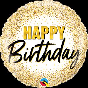 L0012. Balon foliowy z helem na urodziny 18″ cali (43 cm) – Happy Birthday
