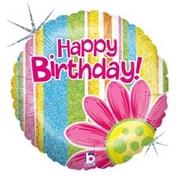 L0044. Balon foliowy z helem na urodziny 18″ cali (43 cm) – holo kwiatek