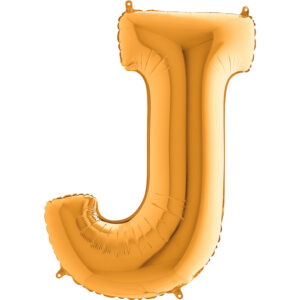 KZ10. Balony litery duże około 100 cm z helem – litera złota J