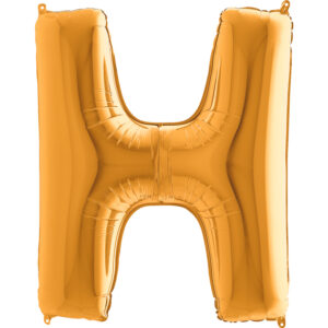 KZ08. Balony litery duże około 100 cm z helem – litera złota H