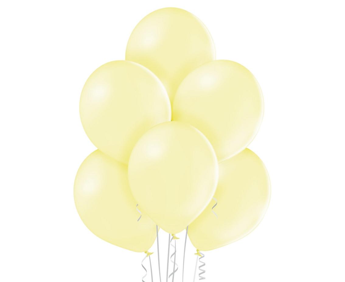 Balony lateksowe o delikatnym koloże żółtym