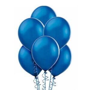 "A010. Metalizowane balony lateksowe 12"" calowe – kolor niebieski"