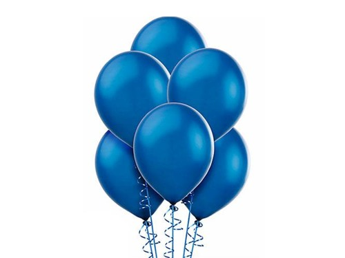 Ciemno niebieski balonik helowy