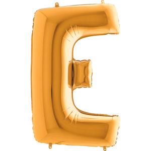 KZ05. Balony litery duże około 100 cm z helem – litera złota E