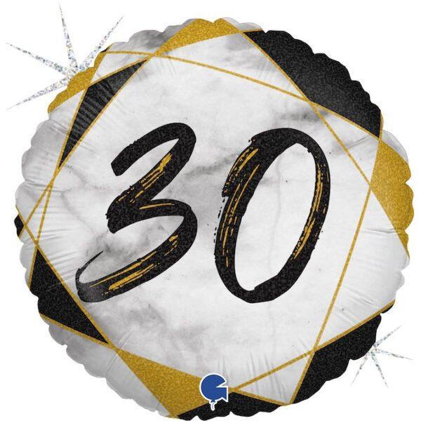 Mały balon z helem - prezent na 30 urodziny