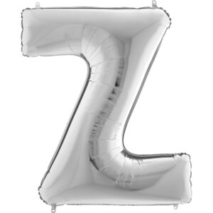 KS26. Balony litery duże około 100 cm na hel – litera srebrna Z