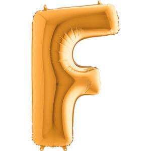 KZ06. Balony litery duże około 100 cm z helem – litera złota F