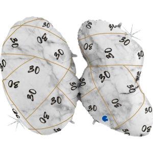 K184. Balon z helem na 30 urodziny 43″cale – marmurkowy jeden balon