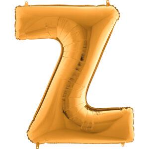 KZ26. Balony litery duże około 100 cm z helem – litera złota Z