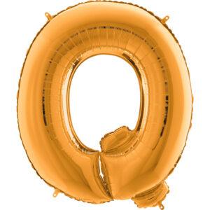 KZ17. Balony litery duże około 100 cm z helem – litera złota Q