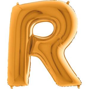 KZ18. Balony litery duże około 100 cm z helem – litera złota R