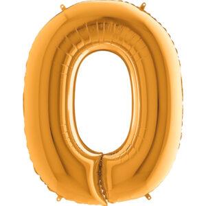 KZ15. Balony litery duże około 100 cm z helem – litera złota O