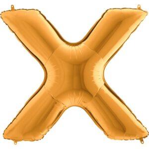 KZ24. Balony litery duże około 100 cm z helem – litera złota X