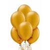 Złote balony z lateksu naturalnego z helem