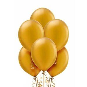 """A003. Metalizowane balony lateksowe 12"""" calowe – kolor złoty"""