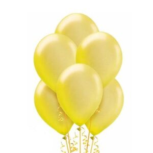 "A011. Metalizowane balony lateksowe 12"" calowe – kolor żółty"