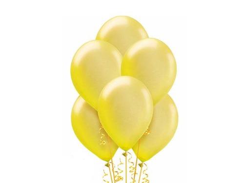 Baloniki żółte z helem
