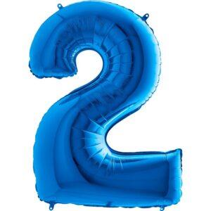 K0092. Balon foliowy w kształcie cyfry 2 w kolorze niebieski / granatowy