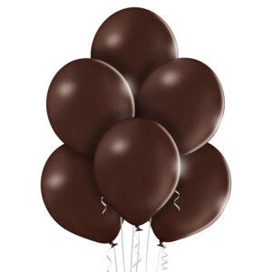 """005. Pastelowe balony lateksowe 12"""" calowe – kolor czekoladowy brąz"""