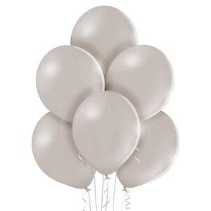 "002. Pastelowe balony lateksowe 12"" calowe – kolor jasno szary"