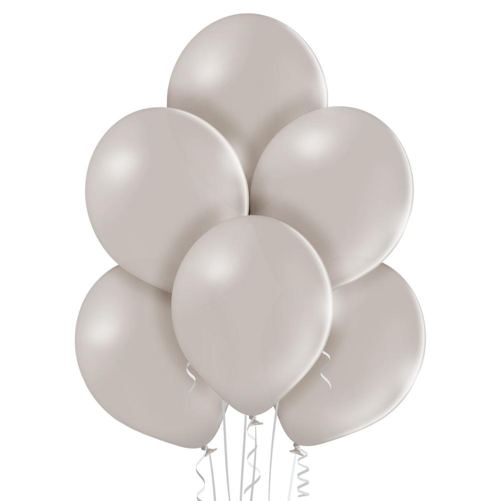 Baloniki helowe w kolorze szarym