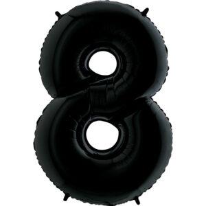 K0138. Balon foliowy w kształcie cyfry 8 w kolorze czarny