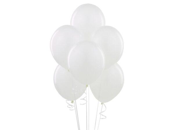 Balony w kolorze białym z helem