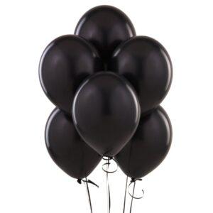 "004. Pastelowe balony lateksowe 12"" calowe – kolor czarny"