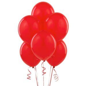 """012. Pastelowe balony lateksowe 12"""" calowe – kolor czerwony"""