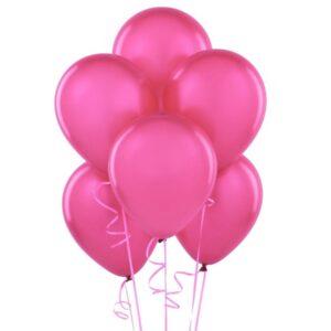 """014. Pastelowe balony lateksowe 12"""" calowe – kolor fuksja"""