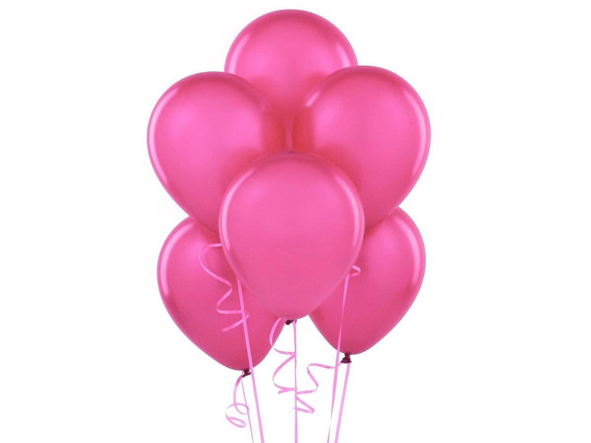 Balony na hel w Warszawie w kolorze różowym ciemnym