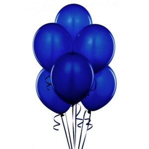"018. Pastelowe balony lateksowe 12"" calowe – kolor granatowy"