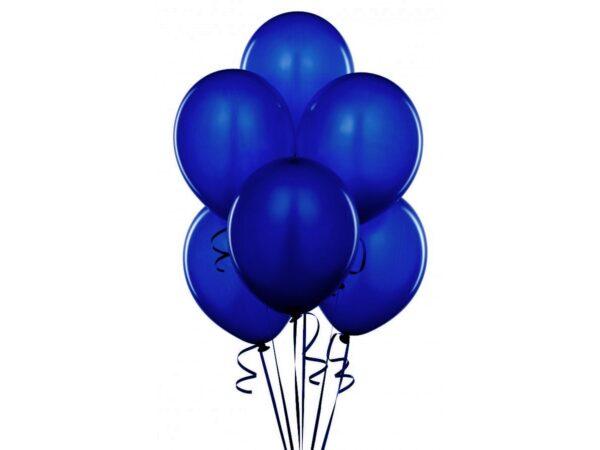 Balony granatowe ciemno niebieskie z helem