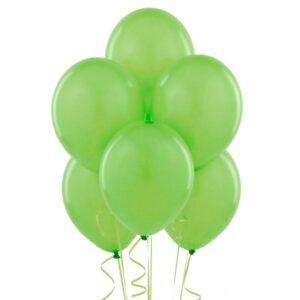 """027. Pastelowe balony lateksowe 12"""" calowe – kolor jasno zielony"""