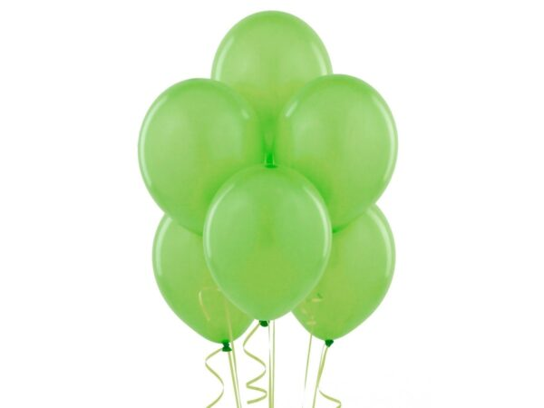 Balony z helem w kolorze / odcieniach zieleni