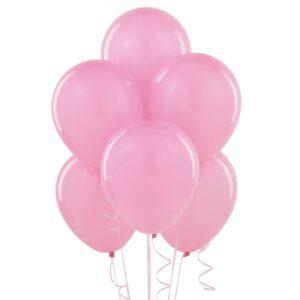 Eko balon lateksowy jasno różowy z helem