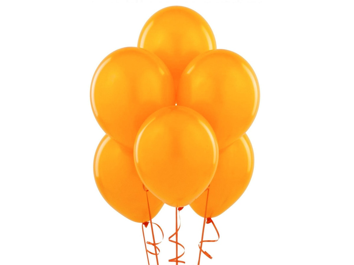 Piękny balon w kolorze pomarańczowym